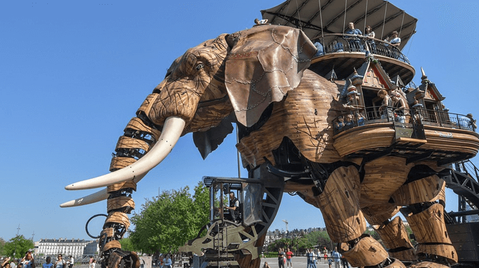 Mechanical Elephan Nantes Quiltmania April 2021