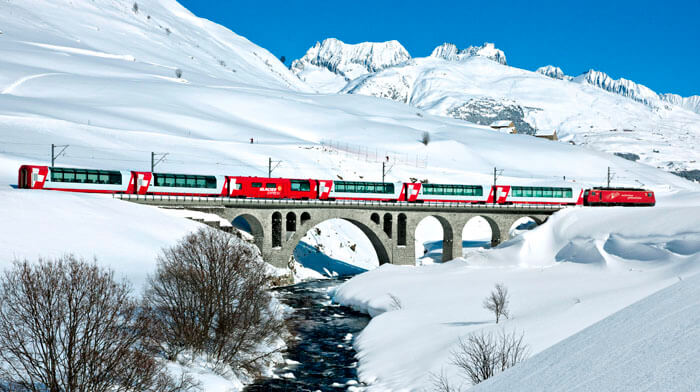 Glacier Express Best Christmas Markets in Europe 2021