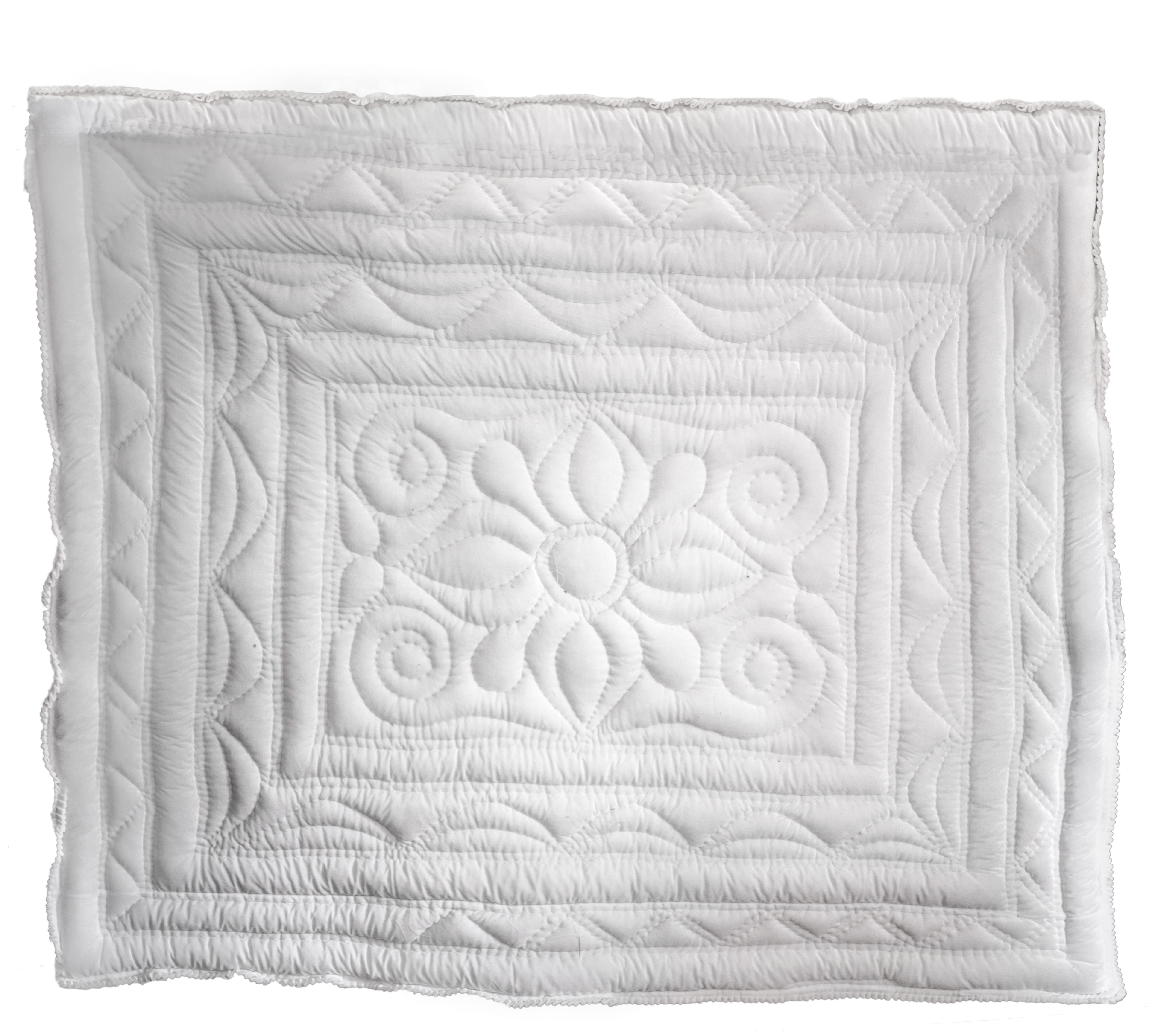 Pontha quilt India white