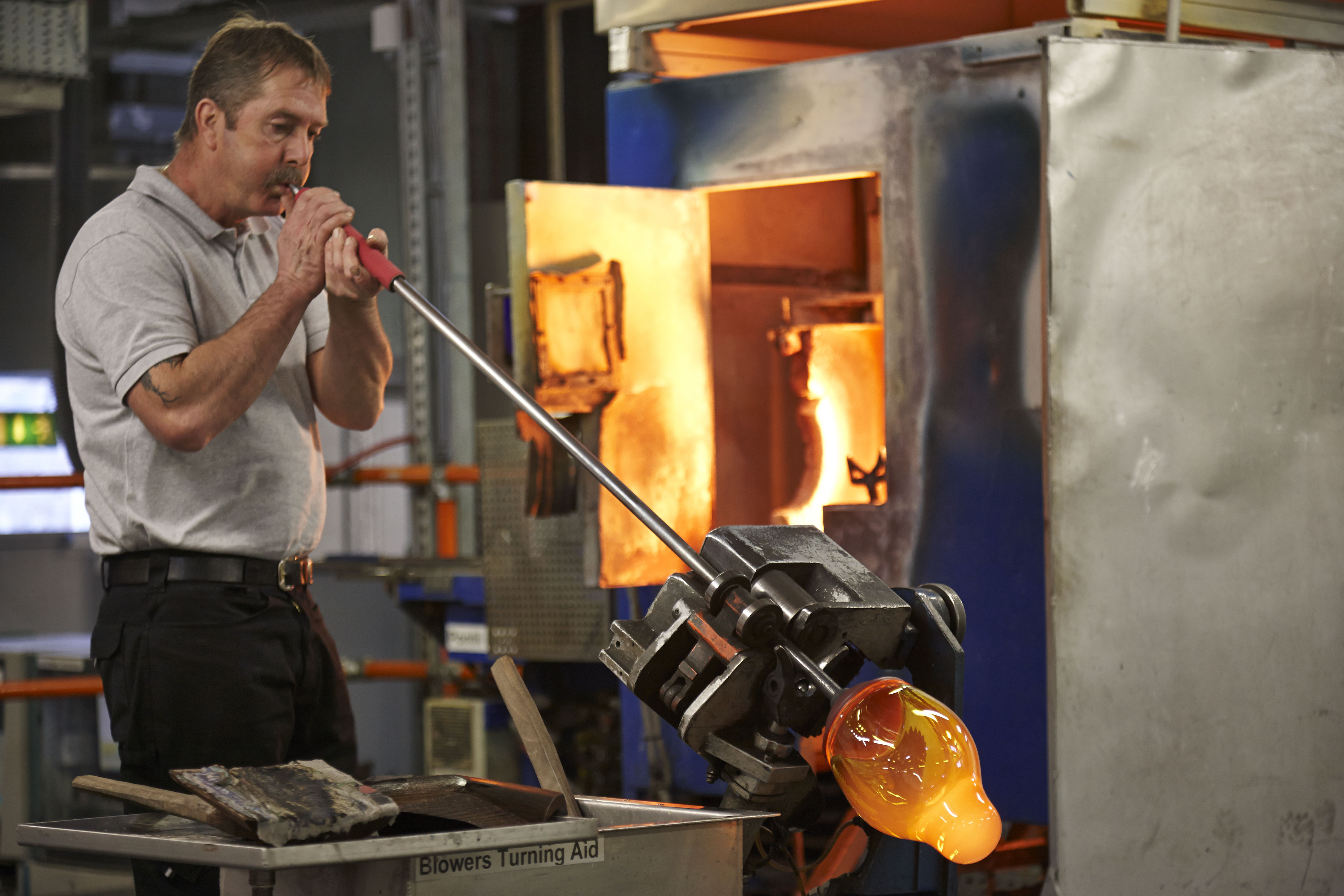 Waterford glass blower
